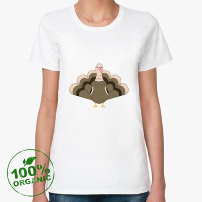 Женская футболка из органик-хлопка Индейка