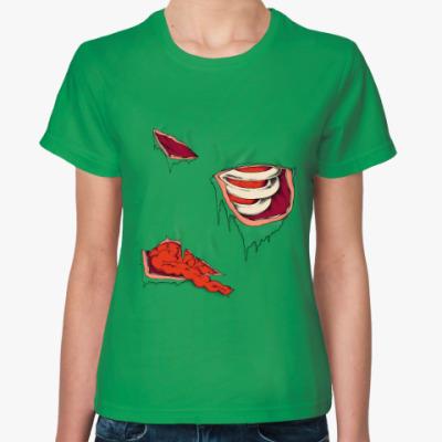 Женская футболка Зомби внутренности