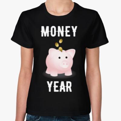 Женская футболка MONEY YEAR