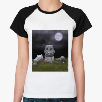 Женская футболка реглан Идол