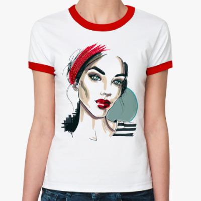 Женская футболка Ringer-T Девушка-мечта