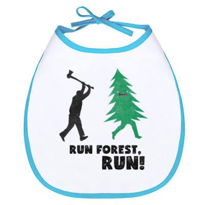 Слюнявчик Run forest run! New Year