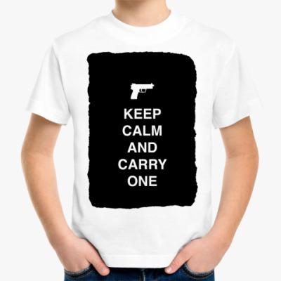 Детская футболка Keep calm and carry one