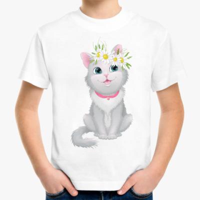 Детская футболка Кошечка в венке