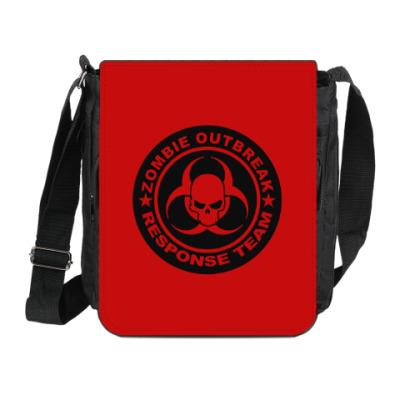 Сумка на плечо (мини-планшет) Zombie outbreak response team