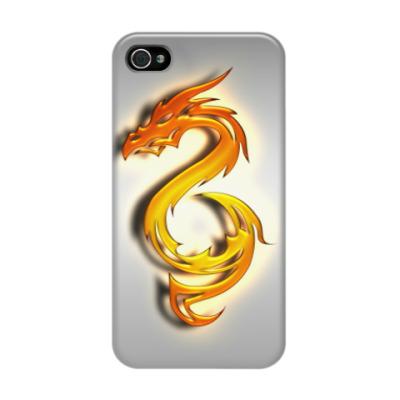 Чехол для iPhone 4/4s Огненный дракон