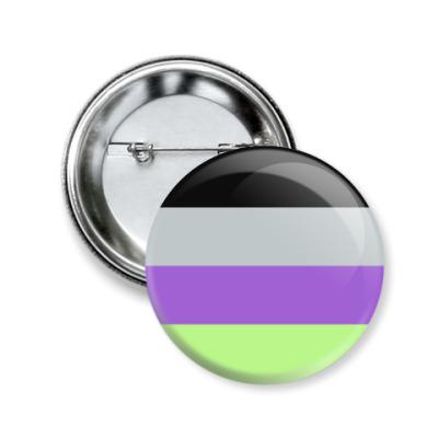 Значок 50мм Инактсексуальность/инициасексуальность