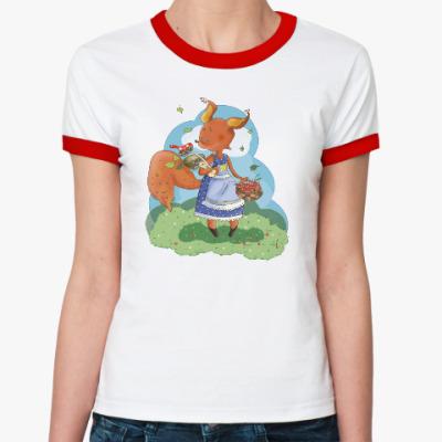 Женская футболка Ringer-T Белка!