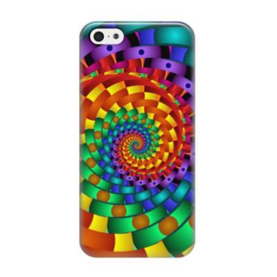 Чехол для iPhone 5/5s Радужный вихрь