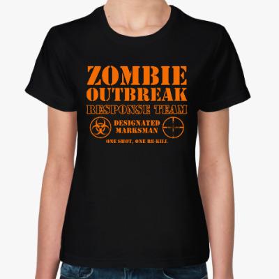 Женская футболка Зомби апокалипсис. Отряд быстр