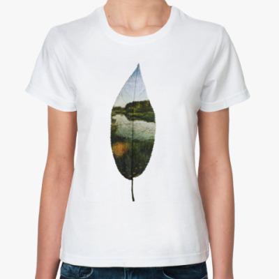 Классическая футболка Листовой пруд