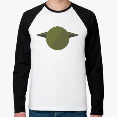 Футболка реглан с длинным рукавом Магистр Йода (Yoda) минимализм