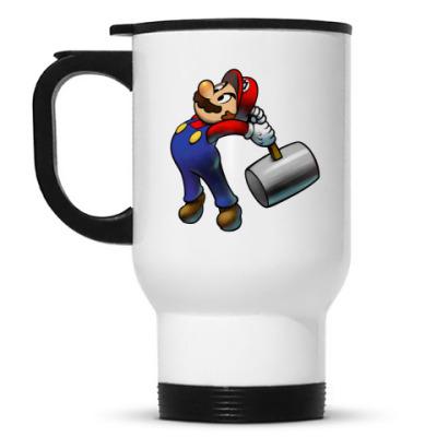 Кружка-термос Марио бъет тебя по пальцам