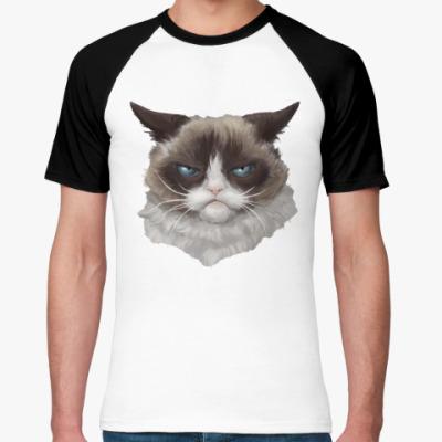 Футболка реглан Grumpy Cat / Сердитый Кот