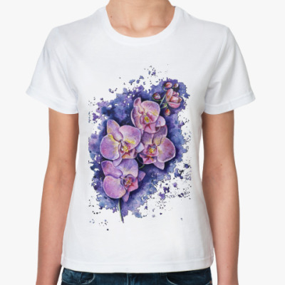 Классическая футболка Orchidea