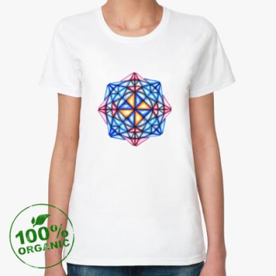 Женская футболка из органик-хлопка Калейдоскоп Декабрь