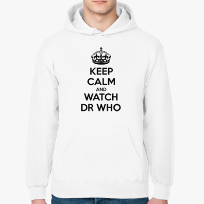 Толстовка худи KEEP CALM and WATCH DOCTOR WHO