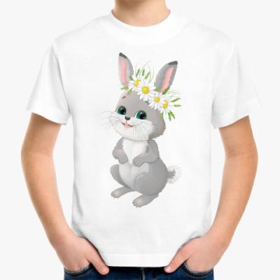 Детская футболка Зайчик в венке