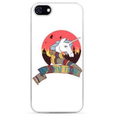 Чехол для iPhone Рождественский Единорог в стиле Доктора Кто