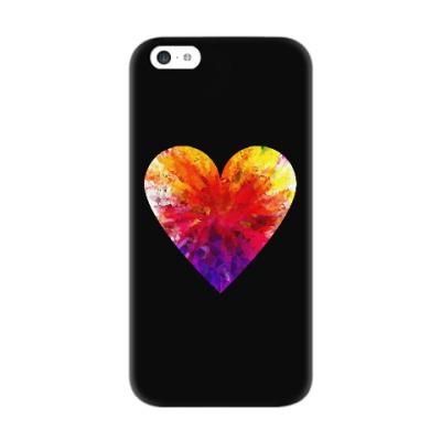 Чехол для iPhone 5c Сердечко