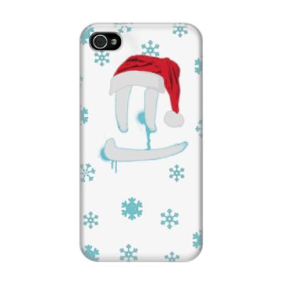 Чехол для iPhone 4/4s Светлая Новогодняя улыбка