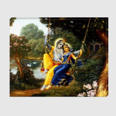 Холст Кришна и Радха