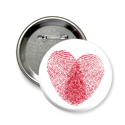 Значок 58мм Отпечатки Любви