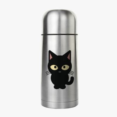 Термос Черный Котик