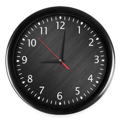 Часы Темная текстура