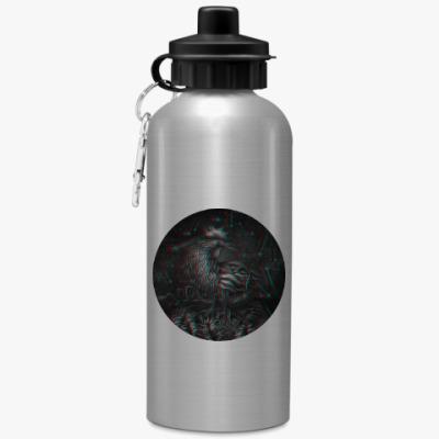 Спортивная бутылка/фляжка Петух 3D символ 2017 года
