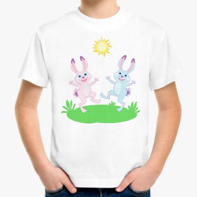 Детская футболка Два весёлых зайца