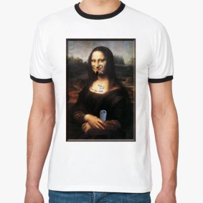 Футболка Ringer-T Испорченная Мона Лиза