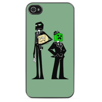 Чехол для iPhone Enderman & Creeper . Minecraft