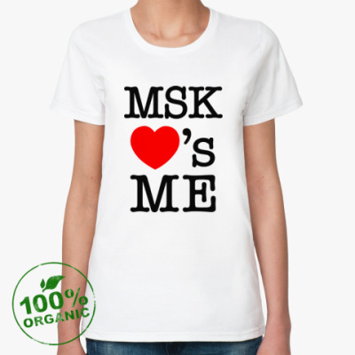 Женская футболка из органик-хлопка MSK Loves Me