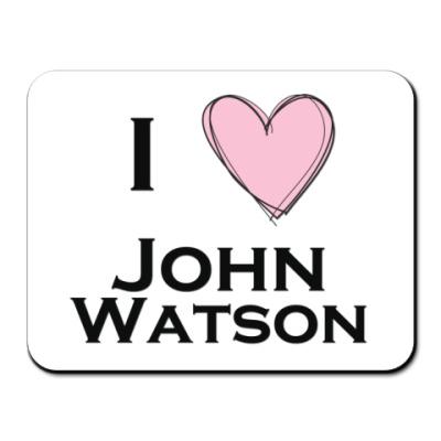 Коврик для мыши I <3 John Watson