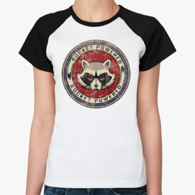 Женская футболка реглан Rocked Powered
