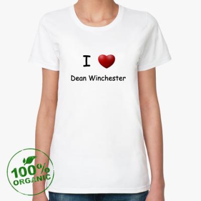 Женская футболка из органик-хлопка I Love Dean