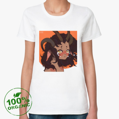 Женская футболка из органик-хлопка cry girl