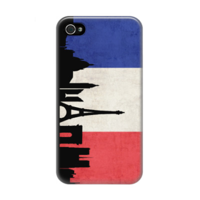 Чехол для iPhone 4/4s Paris