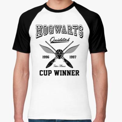 Футболка реглан Hogwarts Quidditch Cup Winner