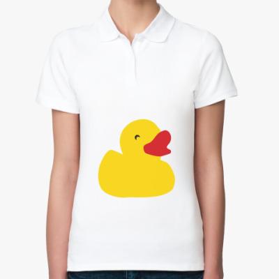 Женская рубашка поло Желтая утка
