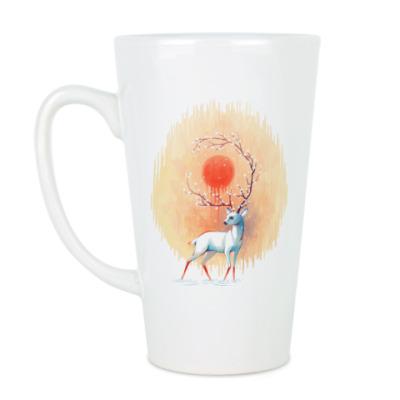 Чашка Латте Дух весны белый олень