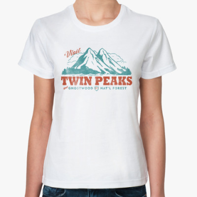 Классическая футболка Твин Пикс