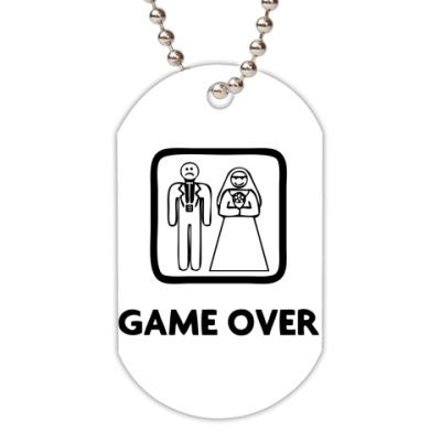Жетон dog-tag Game Over