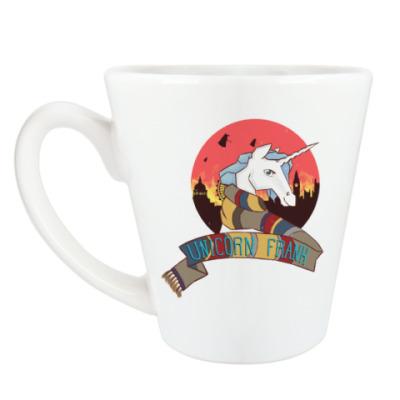 Чашка Латте Рождественский Единорог в стиле Доктора Кто