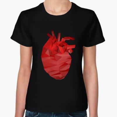 Женская футболка Сердце 3D