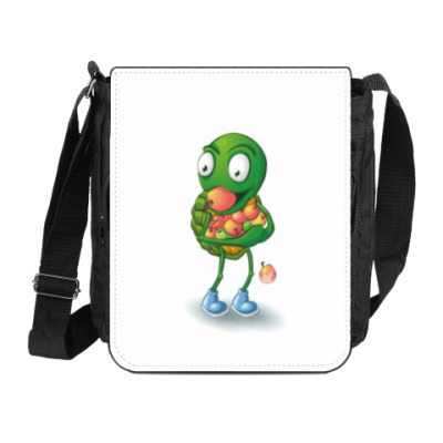 Сумка на плечо (мини-планшет) Добрый Черепашонок с яблоками