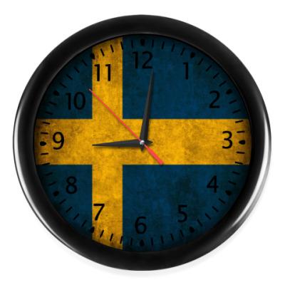 Настенные часы Флаг Швеции