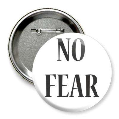 Значок 75мм NO FEAR [MADONNA]