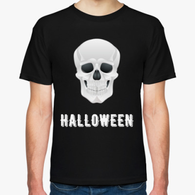 Футболка Halloween Skull